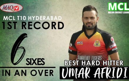 Afridi bangs 6 sixes in an over